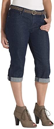 Levi's Women's Petite 515 Cuffed Capri Jean, Spoken True, 6 Medium