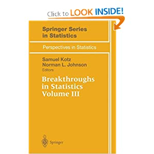 Breakthroughs in Statistics: Volume III (Springer Series in Statistics   Perspectives in Statistics)