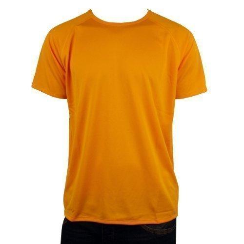 mens-nike-dry-dri-fit-running-shirt-top-t-shirt-gym-training-tee-l-yellow