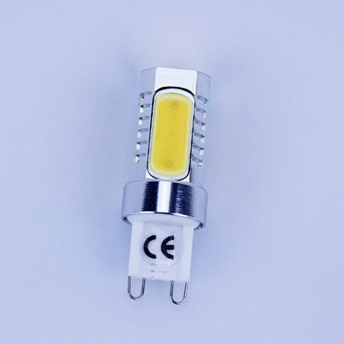Coffled®1Pc Energy Saving Light G9 7.5W Cob Chip Smd Aluminum Led Warm White Bulb Ac90-265V (Warm Light)