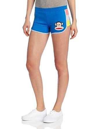 (超低)Paul Frank 大嘴猴 女士带logo 纯色家居 运动休闲短裤 白色 $11.55