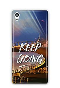 YuBingo Keep Going Designer Mobile Case Back Cover for Sony Xperia Z5 Premium