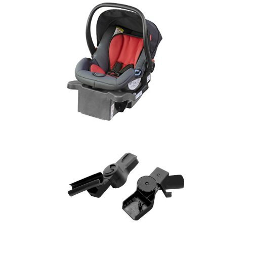 phil & teds Alpha Infant Car Seat with Adapter, Flint/Red