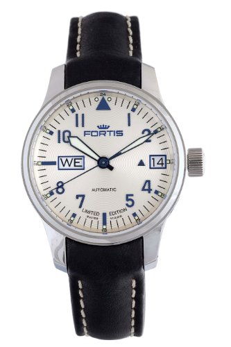 Fortis Men's 700.20.92 L.01 F-43 Flieger Beige Dial Automatic Date Leather Watch