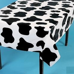 Set of 6 Lightweight Cow Print Tablecloths