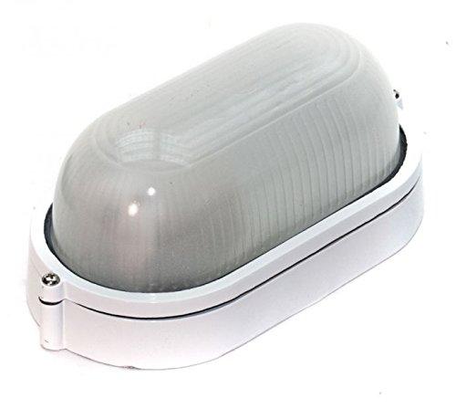 REV Ritter 0590052555 - Lampada ovale con struttura in alluminio, 60W, bianco