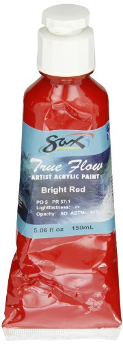 Sax True Flow Artists Acrylic - 150 Milliliters - Bright Red