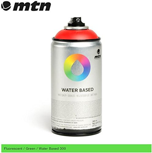 mtn-fluorescent-green-300-ml-de-agua-pintura-de-aerosol-base