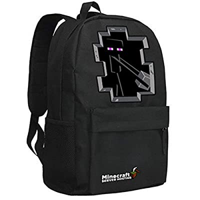 Minecraft Creeper Backpack Black 4# by Minecraft