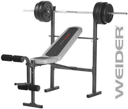Brilliant Cheap Weider 220W Fid Bench With 80 Pound Weight Set And Leg Short Links Chair Design For Home Short Linksinfo