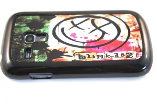 Black Frame BLINK 182 TRAVIS BARKER POP PUNK design Samsung Galaxy S3 Mini i8190 Case Back cover-Hard Plastic and Metal
