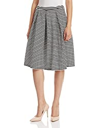 UCB Women's A-Line Skirt (16A3CH1E9662I901XS_Black and White)