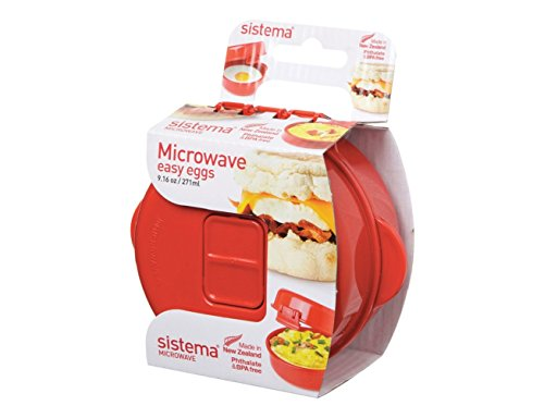 Sistema 1117 Easy Eggs Microwave Cookware, Red (Steam Cook Microwave compare prices)