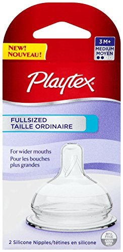 Playtex Full-Sized Nipple, Medium Flow, 4-Count