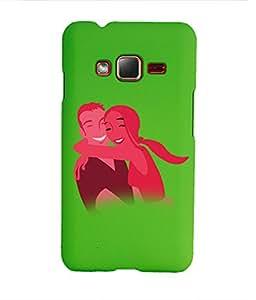 KolorEdge Back Cover For Samsung Z1 - Green (1412-Ke15094SamZ1Green3D)