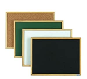 Aarco Products EC1218G Economy Series Wood Frame Chalkboard - Green