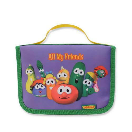 "Enesco VeggieTales, ""All My Friends"" Fabric Photo Album, 4 by 6-Inch - 1"