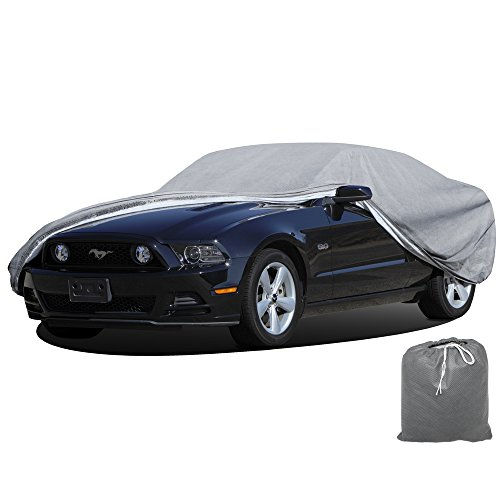 OxGord® Signature Car Cover - 100% Water-Proof 5 Layers - True Mastepiece - Ready-Fit / Semi Custom - Fits up to 204 Inches