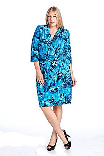 22d6b9474a6c4d Marcelle Margaux Women s Floral Wrap Dress