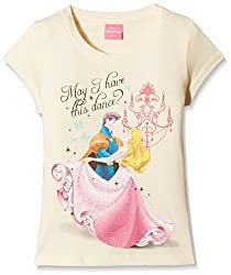 Princess Girls T-Shirt (DPW-08_Lt.Peach_4 - 5 years)