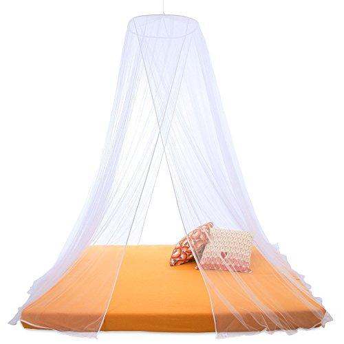 Moskitonetz-Sumkito-rund-oder-eckig-Insektenschutz-fr-Einzel-oder-Doppelbetten-wei-rund-XXL-Doppelbett-2-Eingnge-CelinaSun-1000471