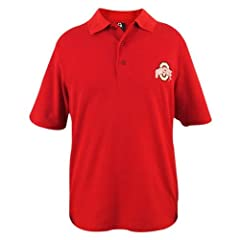 Ohio State Buckeyes Mens Scarlet Cotton Pique Polo by J. America