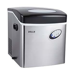 Amazon.com: DELLA? Stainless Steel Ice Maker Portable Countertop ...