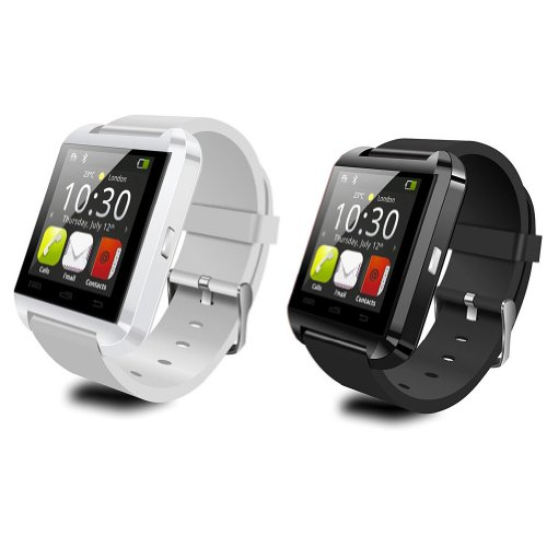 Leexgroup® 2Pcs U8 Bluetooth Smart Watch Phone For Android System Htc One M7 Sony Xperia Samsung Galaxy S2/S3/S4/S5 Note 2/Note 3 I9100 I9220 I9300 I9500 I9600 N7100...Couple Watch Best Birthday Gift (Black+White)