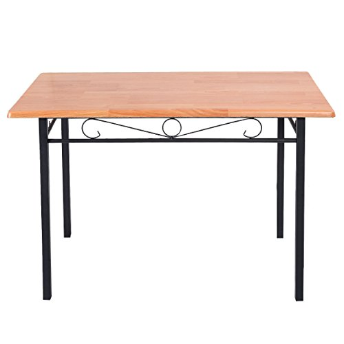 steel-frame-dining-table-kitchen-modern-furniture-bistro-home-durable-wood