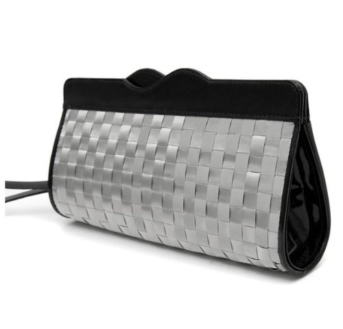 Stewart Stand Stainless Steel Clutch/Wristlet Black