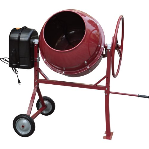 Lowest Price! Northern Industrial Portable Cement Mixer - 6 Cubic Ft., 1 HP, Model# CM180L