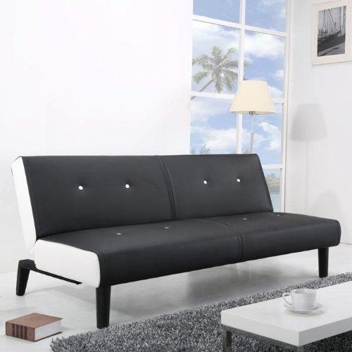 NEG-Design-Schlafsofa-HELIOS-schwarzwei-mit-Napalon-Leder-Bezug-Klappsofa-3-Sitzer-Liegeflche-179x108cm-sehr-bequem
