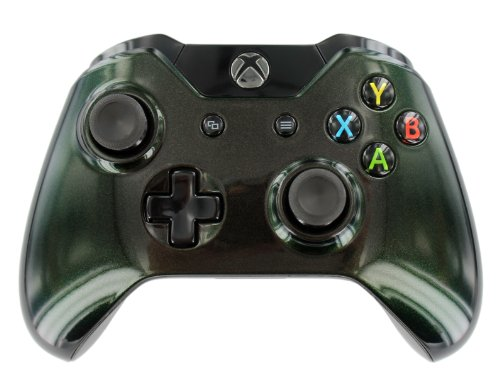 """Enigma Green Purple"" Chameleon Xbox One Custom Unmodded Controller"