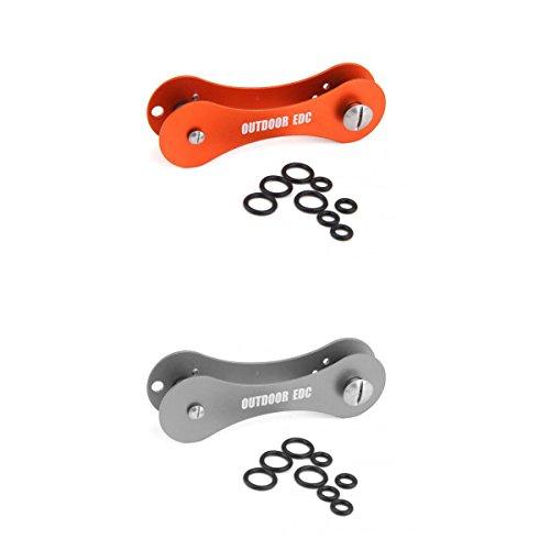 2pz-portachiavi-edc-strumento-di-tasca-alluminio-organizzatore-clip-anello-chiavi-grigio-arancio