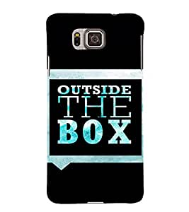 EPICCASE Think out of the box Mobile Back Case Cover For Samsung Galaxy Alpha (Designer Case)
