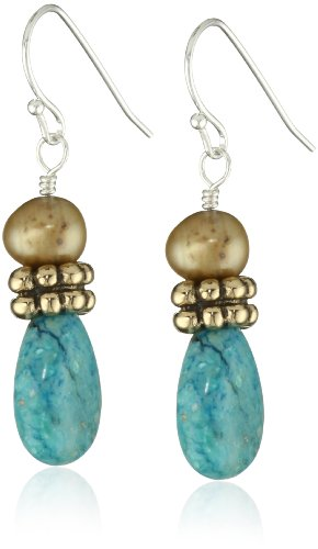 Bronzed by Barse Multi-Stone Drop Earrings