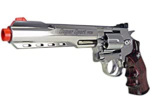 400 FPS WG Full Metal M702 MAGNUM High-Powered CO2 Semi-Automatic Revolver Airsoft Pistol - Silver