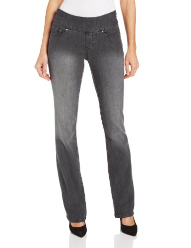 Jag Jeans Women's Paley Pull-On Bootcut Jean, Thunder Grey, 6