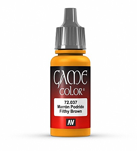 Vallejo Game Color Filthy Brown Paint, 17ml
