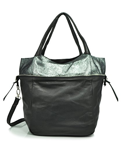 sondra-roberts-leather-collection-soft-metallic-convertible-tote-crossbody-black-one-size