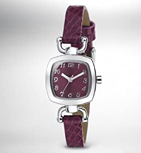 Mini Cushion Crocodile Skin Design Watch