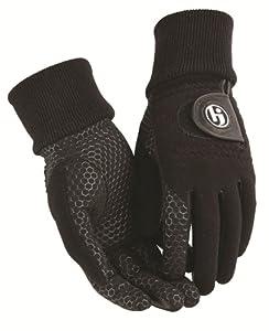 HJ Glove Men's Black Winter Xtreme Golf Glove, Small, Pair