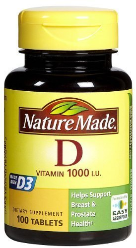 Nature Made Vitamin D3 1000 IU, 100 Tablets (2 Pack) (Nature Made Vitamin D3 1000iu compare prices)