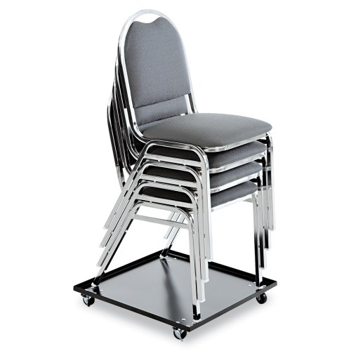 Alera Stacking Chair with Dolly, Black