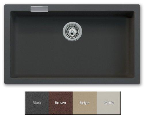 Black Granite/Quartz Composite Undermount Kitchen Sink