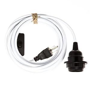 plug in pendant light cord grounded white ceiling. Black Bedroom Furniture Sets. Home Design Ideas
