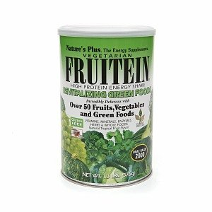Nature'S Plus Fruitein, High Protein Energy Shake, Revitalizing Green Foods 1.3 Lb (576 G)