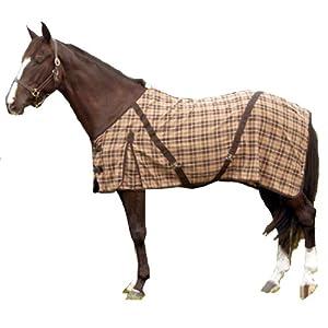 Intrepid International Horse Day Sheet, Brown Plaid, 69