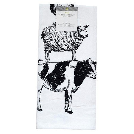 New Farm Animal Flour Sack Kitchen Towel (Threshold Dishes compare prices)