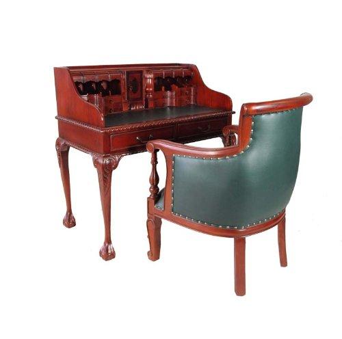 louis stil sekret r mahagoni holz schreibtisch mit stuhl. Black Bedroom Furniture Sets. Home Design Ideas